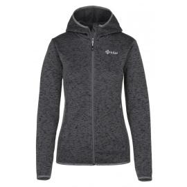 Women's fleece hooded sweatshirt Bandai-w dark gray - Kilpi
