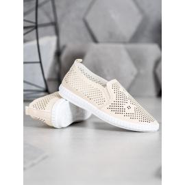 Azsúr slip on cipő - bézs