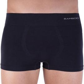 Pánské boxerky Gino bezešvé bambusové černé (53005)