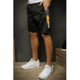 Black men's short sweat shorts SX1128