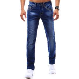 Spodnie jeansowe męskie niebieskie (ux0897)